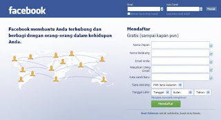 facebook login bahasa indonesia login facebook