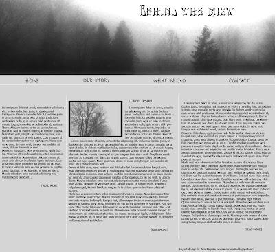 free mist web layout