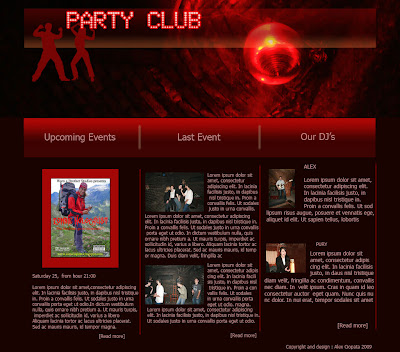 free web page design and template