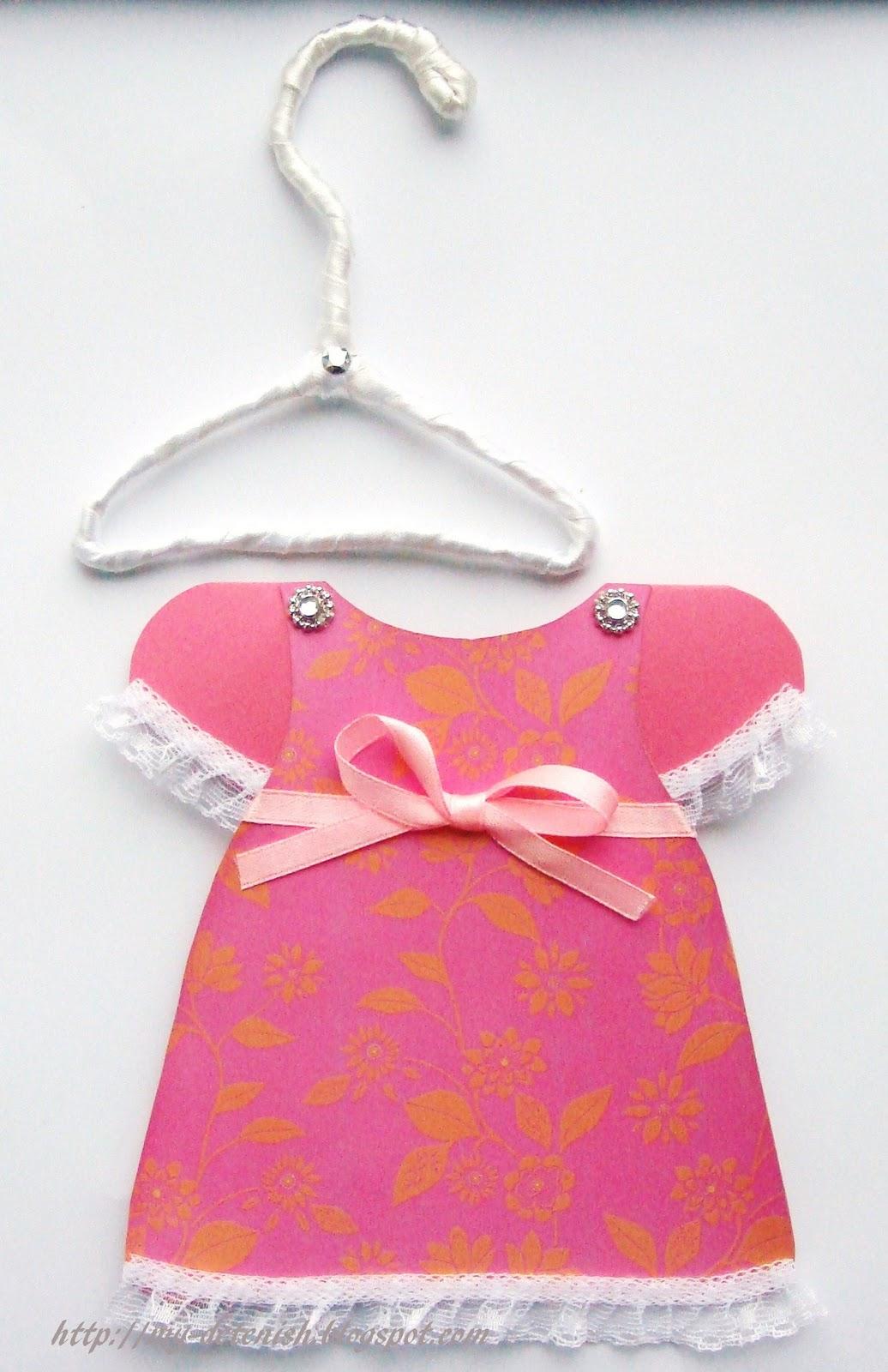 Открытка для девочки платье 36