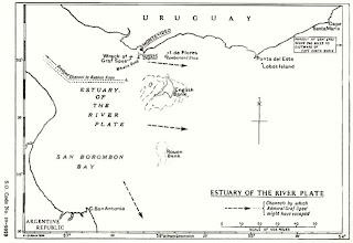 Mapa del estuario del Rio de la Plata