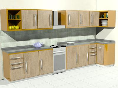 Dise arte muebles y repostero para cocina for Mueble animado
