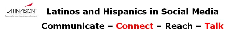 Latinos and Hispanics in Social Media