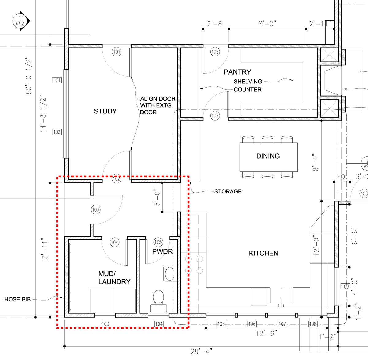 Building a House Between Garage and Laundry Room