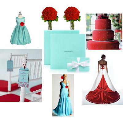 Or Tiffany blue what color for red roses wedding Tiffanyblueandredideas2