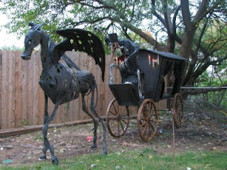 Sid and his horse drawn hearse