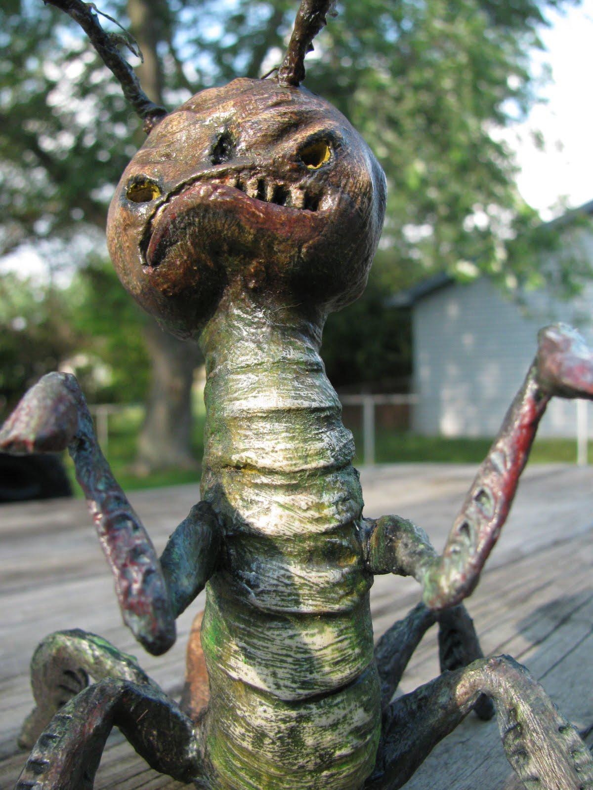 Giant Mantis Monster Giant Mantis Monster Spotted