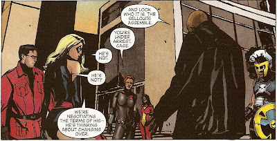 See, it's different because this time, she's arguing with an Avenger, not a S.H.I.E.L.D. agent!