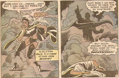 Storm failed her stealthy surveillence lessons from Wolverine