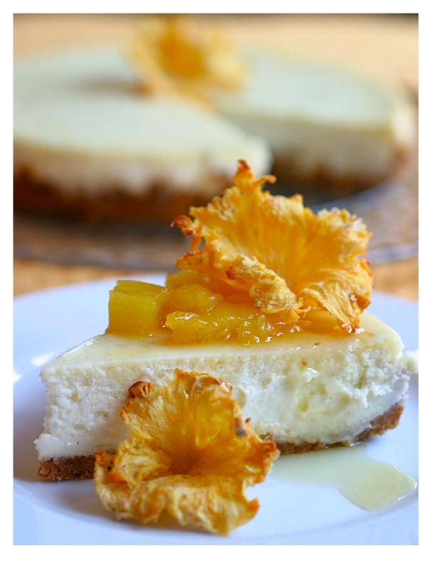 ... Bakers: Cheesecake with Roasted Rum Pineapple and Pineapple Flowers