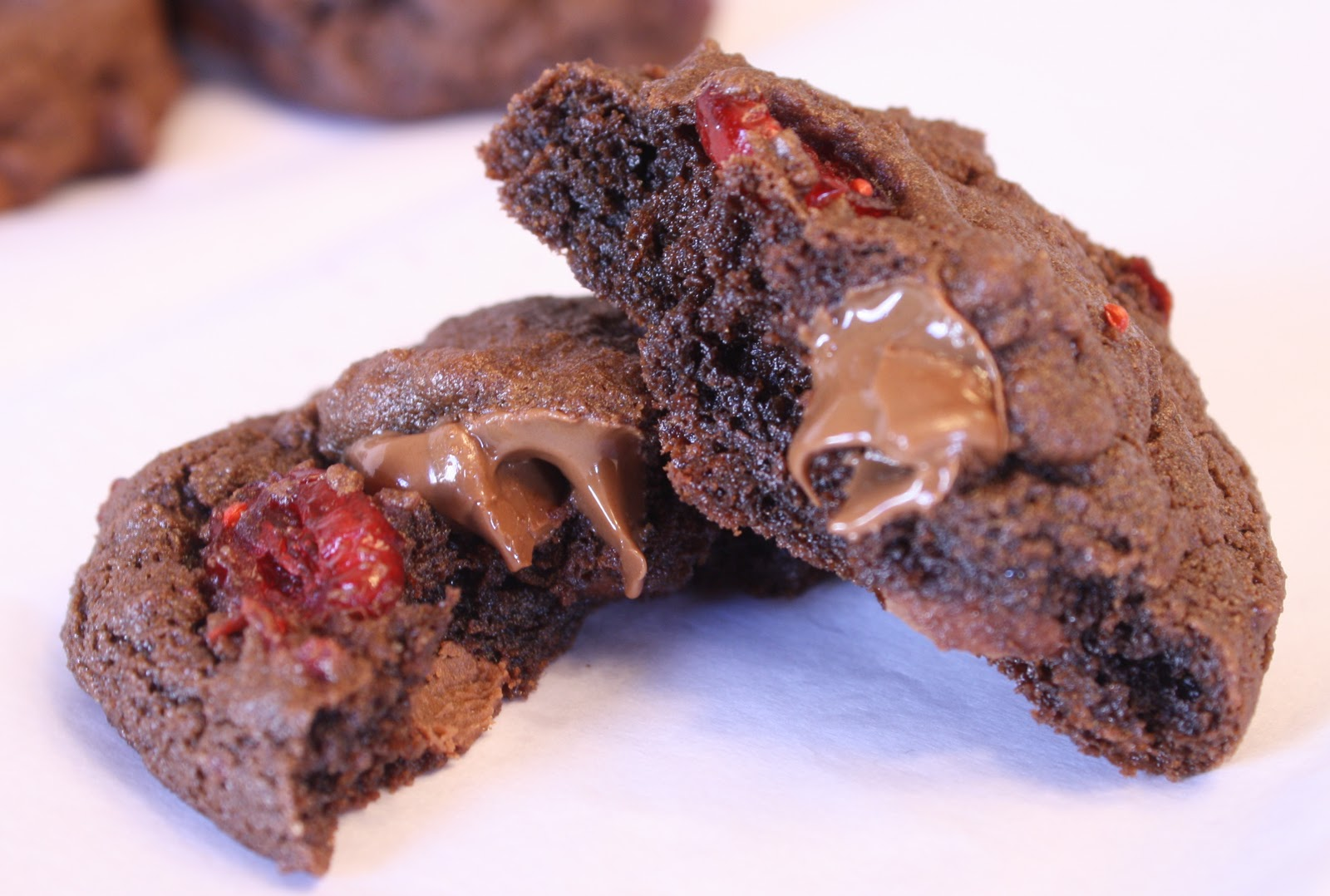 Chocolate Cherry Chunk Cookies Recipe — Dishmaps