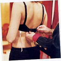 How to unhook a woman bra