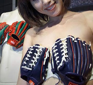 baseball glove bra