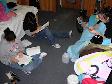 right before the last final, everyone studying in my room
