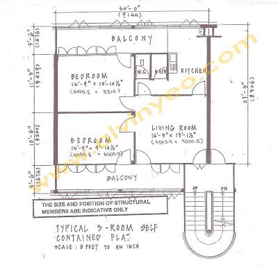 Tiong Bahru Estate: Types of HDB floorplan layout (88 sqm)