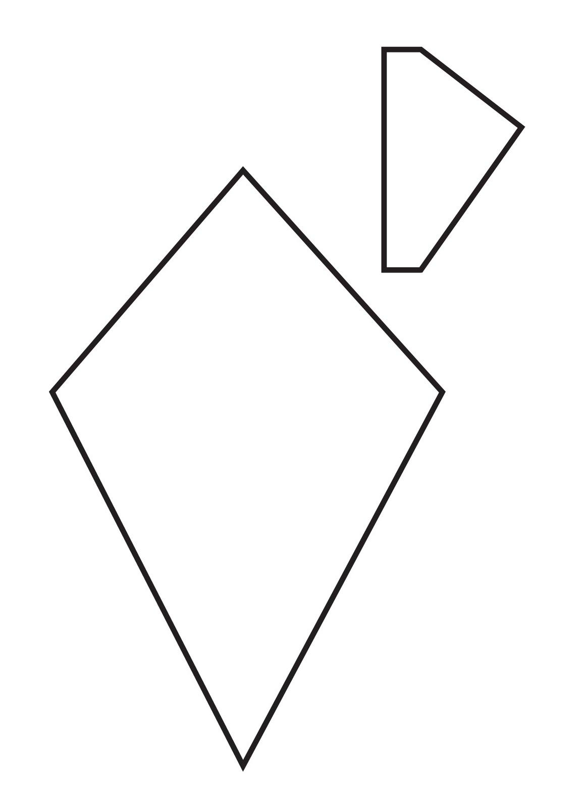 Tetrahedron kite template