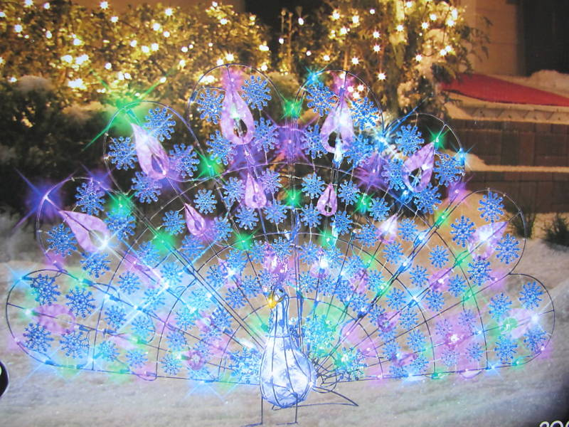 Best 28 lighted peacock christmas decoration large multi colored light led peacock lighted - Outdoor peacock decorations ...