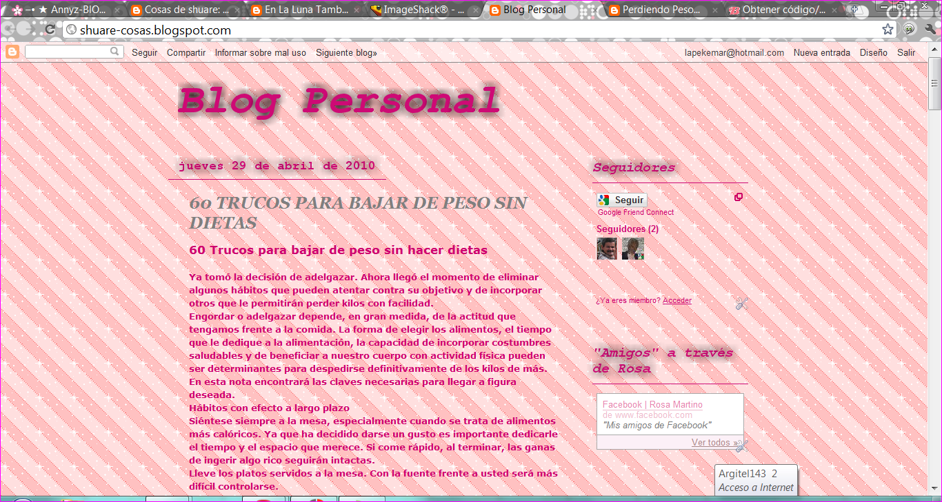 Cosas de shuare: Fondo para tu Blogger: Rayitas Rosas