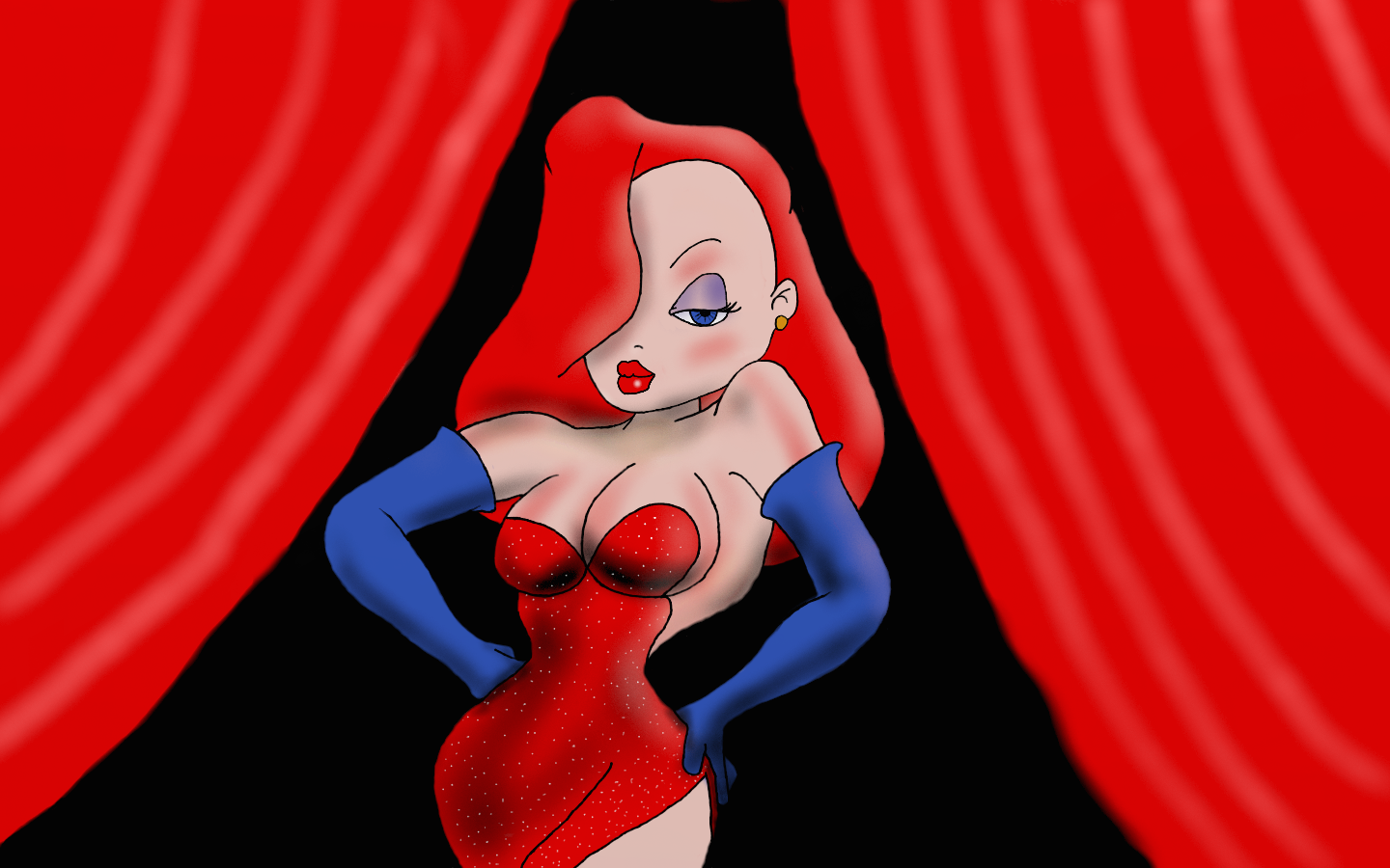 Cartoon Characters Jessica Rabbit : Daily drawing practice jessica rabbit