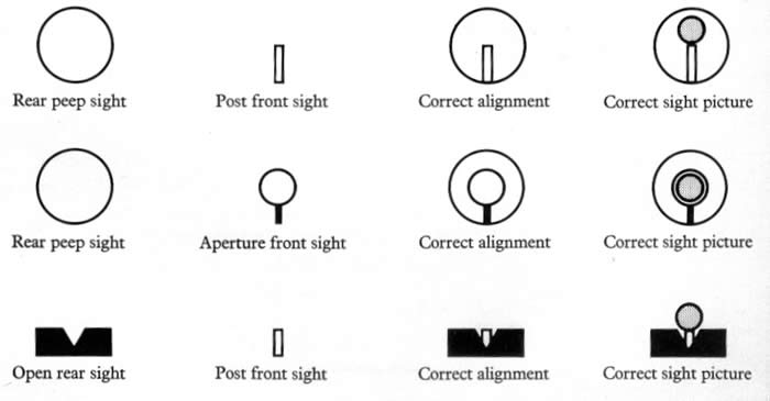 daily survival basic firearms part 4 proper sight alignment or sight picture. Black Bedroom Furniture Sets. Home Design Ideas