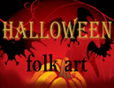 Halloween folk art