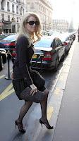 Claudia Schiffer in Black Nylons