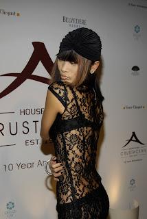 Bai Ling in a See Thru Dress