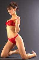 Emily Booth in Red Lingerie