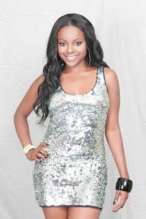 Keisha Buchanan in a Tight Silver Dress