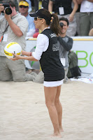 Eva Longoria Playing Beach Volleyball