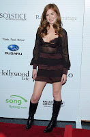 Isla Fisher in a See-Thru Dress