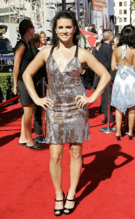 Danica Patrick in a Backless Dress