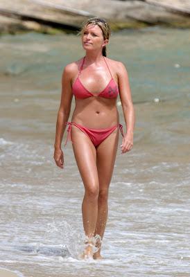 Tina Hobely Bikini Candids