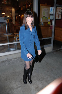 Alyson Hannigan in Pantyhose and Boots