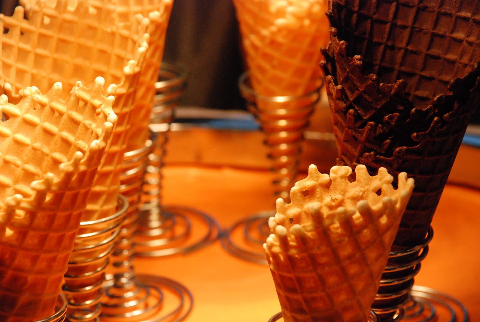 ... dark chocolate dipped dark chocolate dipped cherry ice cream cones