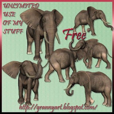 http://grannyart.blogspot.com/2009/04/elephant-in-png-free.html
