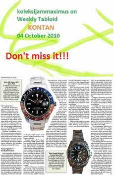 koleksijammaximus on Weekly Tabloid KONTAN (please click foto)