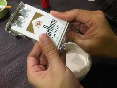 cara bikin asbak rokok dari bungkusnya