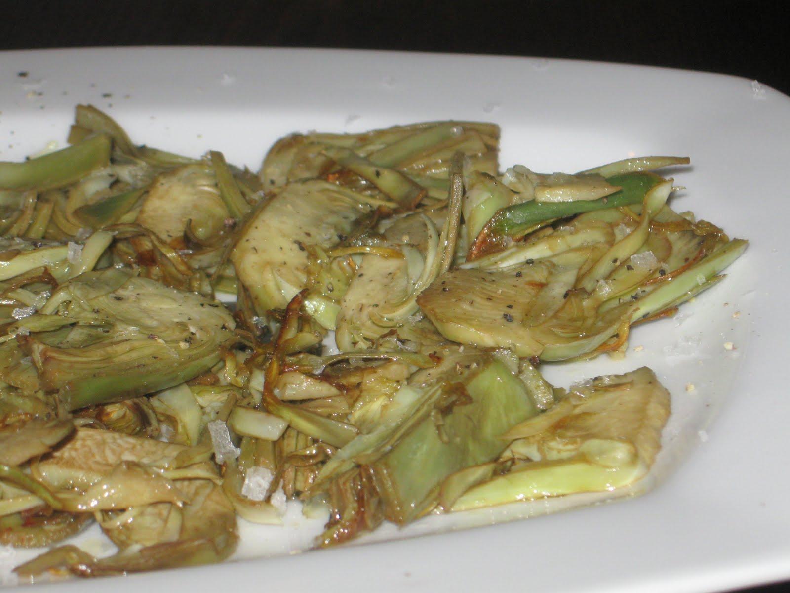 Cocina con quenyin alcachofas fileteadas a la plancha - Cocina con plancha ...