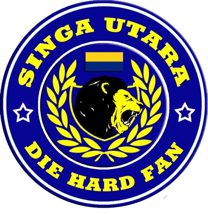 aku sempoi logo design singa utara die hard fan