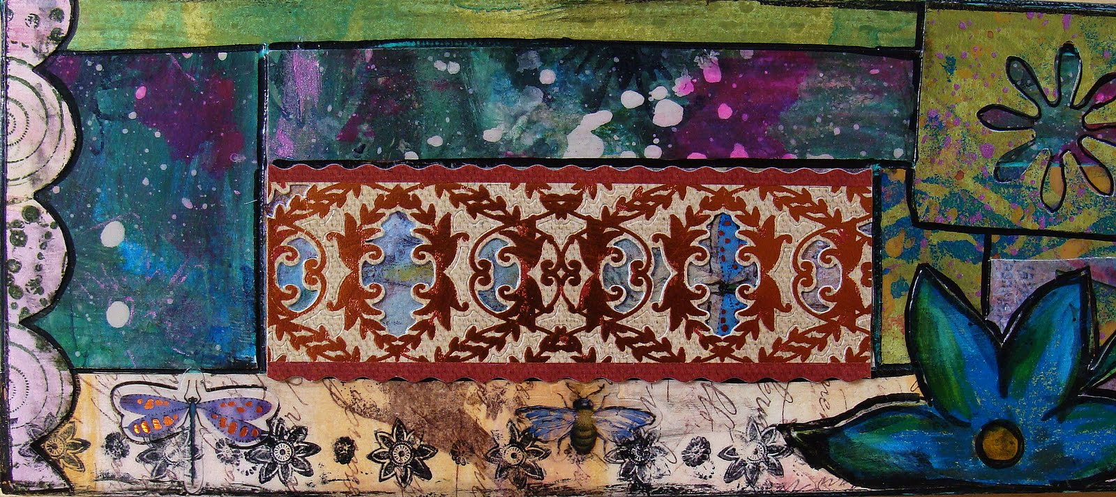 "Ophelia S Adornments Blog May 2012: My Art Journal: Still Having Fun With My ""Patchwork"""