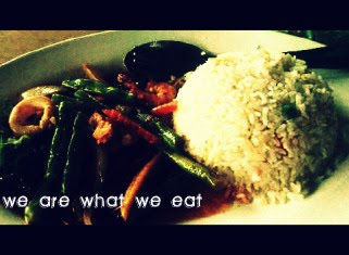 we are what we eat.
