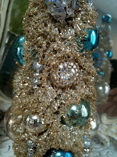 Enchanting Blue Bejeweled Pixie Tree
