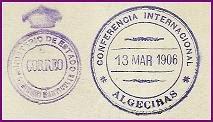 Datos filatélicos de la Conferencia de 1906