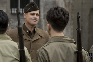 Pitt's Lt. Aldo Raine prepares his Basterds for war