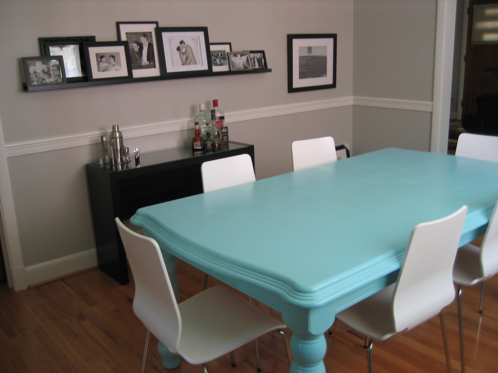 Durham Salad Days: Blue Dining Table...Done & Done