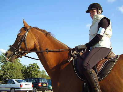 Trine jørgensen på ox-araberen zodiac købte det første ridekort