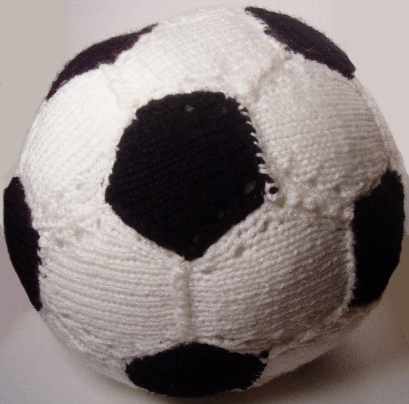 Soccer Ball Knitting Pattern : Andrews Craft Corner: January 2011