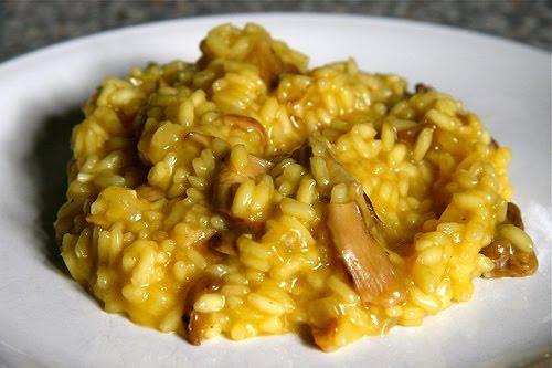 risotto funghi salsiccia e zafferano