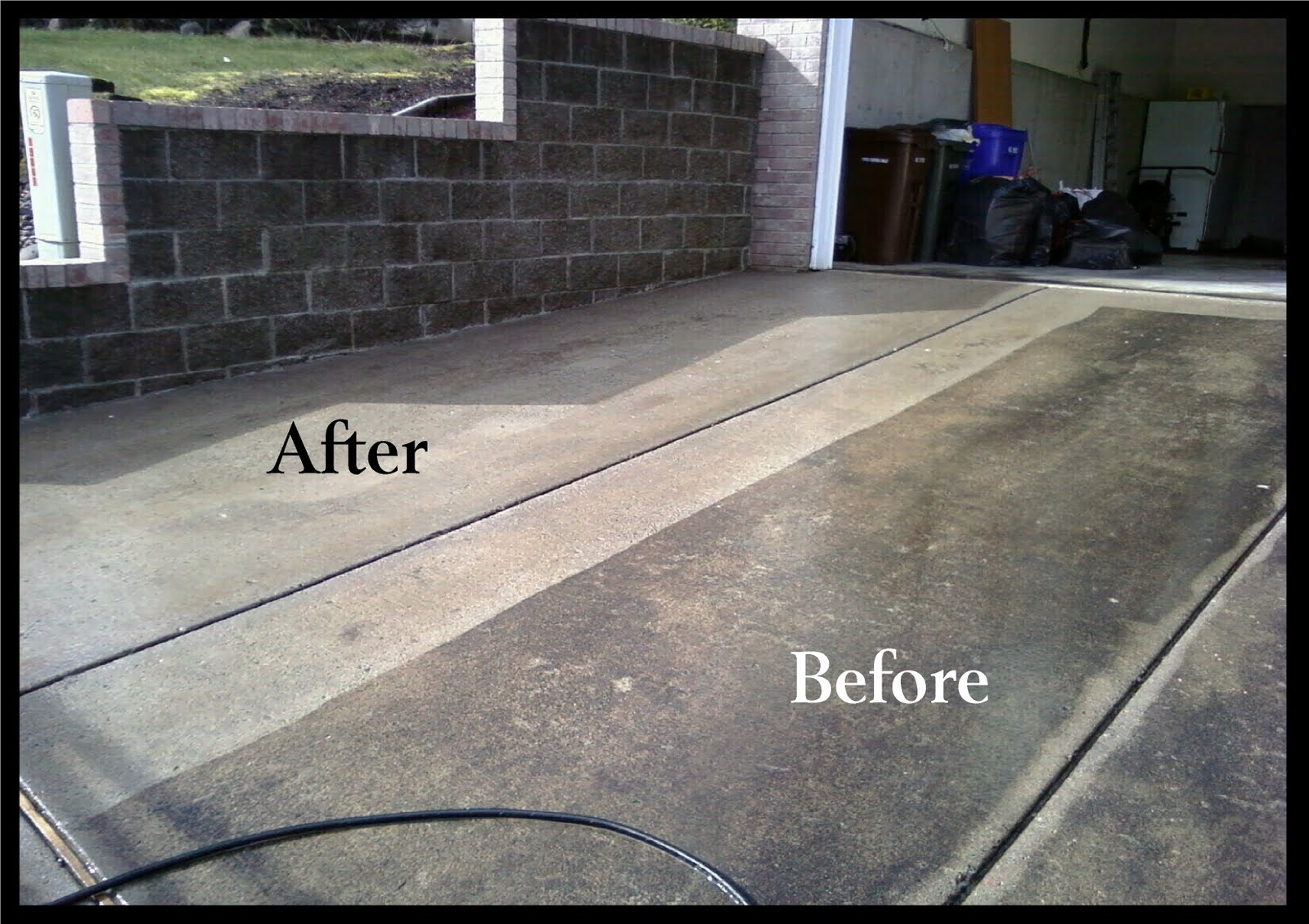 Hydro power wash concrete cleaning for Pressure wash concrete patio